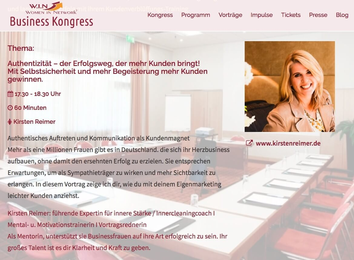 W.I.N. Business Kongress